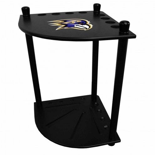 Baltimore Ravens Corner Pool Cue Rack