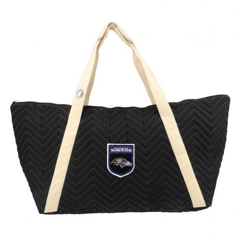 Baltimore Ravens Crest Chevron Weekender Bag