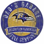 Baltimore Ravens Dad's Garage Sign