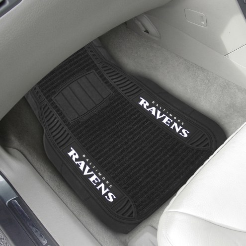 Baltimore Ravens Deluxe Car Floor Mat Set