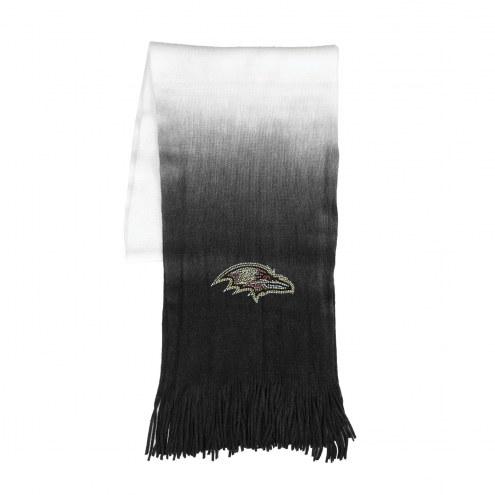 Baltimore Ravens Dip Dye Scarf