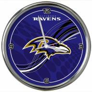 Baltimore Ravens Dynamic Chrome Clock