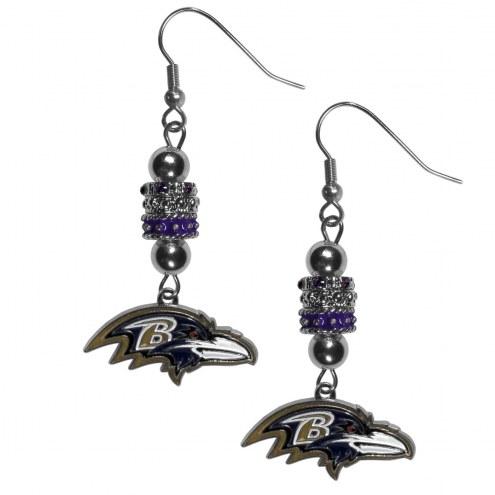 Baltimore Ravens Euro Bead Earrings