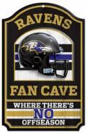 Baltimore Ravens Fan Cave Wood Sign