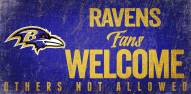 Baltimore Ravens Fans Welcome Wood Sign