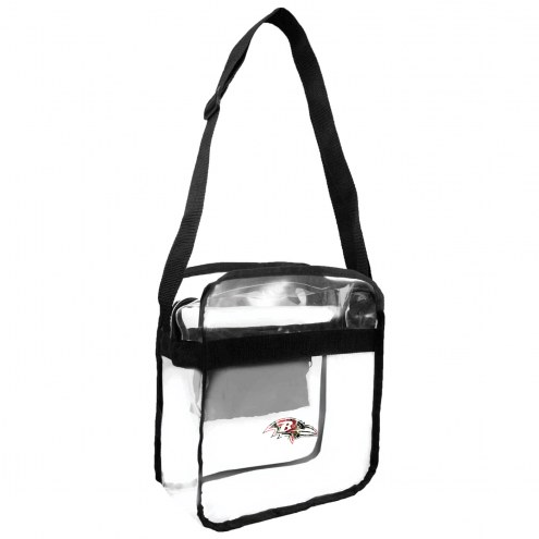 Baltimore Ravens Floral Clear Crossbody Carry-All Bag