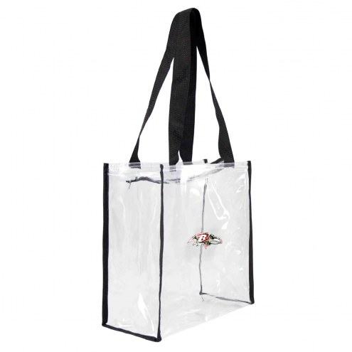 Baltimore Ravens Floral Clear Square Stadium Tote