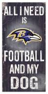 Baltimore Ravens Football & My Dog Sign