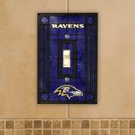 Baltimore Ravens Glass Single Light Switch Plate Cover