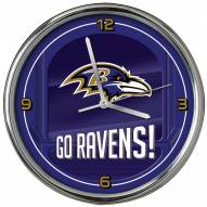 Baltimore Ravens Go Team Chrome Clock