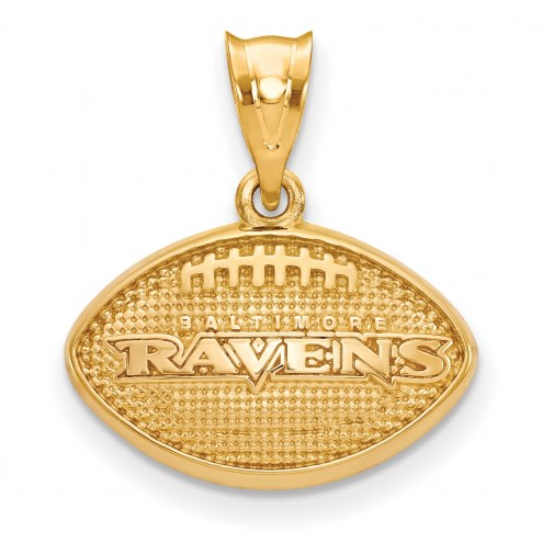 Baltimore Ravens Gold Plated Football Pendant
