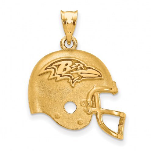 Baltimore Ravens Gold Plated Helmet Pendant