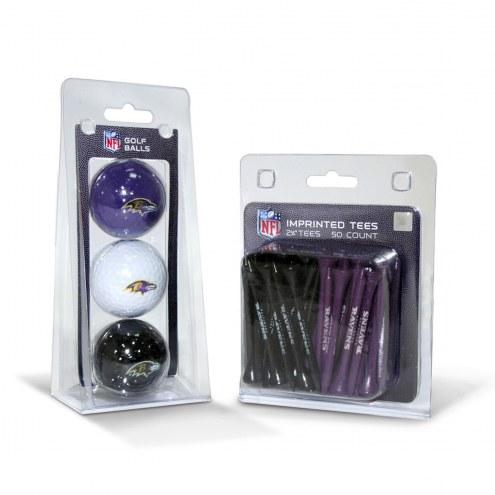 Baltimore Ravens Golf Ball & Tee Pack