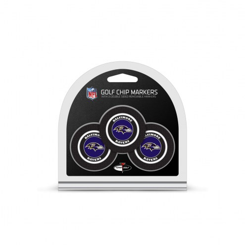 Baltimore Ravens Golf Chip Ball Markers