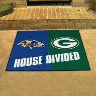 Baltimore Ravens/Green Bay Packers House Divided Mat