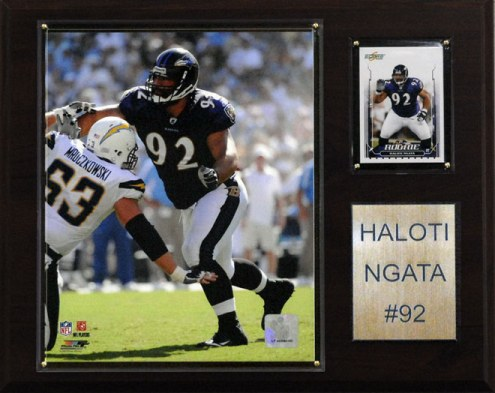 "Baltimore Ravens Haloti Ngata 12 x 15"" Player Plaque"