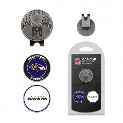 Baltimore Ravens Hat Clip & Marker Set