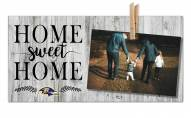 Baltimore Ravens Home Sweet Home Clothespin Frame