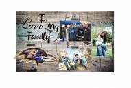 Baltimore Ravens I Love My Family Clip Frame