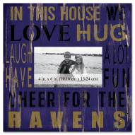 "Baltimore Ravens In This House 10"" x 10"" Picture Frame"