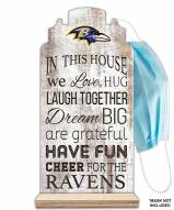 Baltimore Ravens In This House Mask Holder