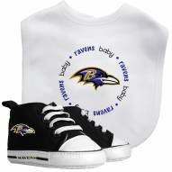 Baltimore Ravens Infant Bib & Shoes Gift Set
