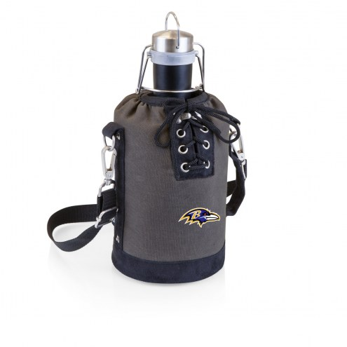 Baltimore Ravens Insulated Growler Tote with 64 oz. Stainless Steel Growler