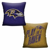Baltimore Ravens Invert Woven Pillow