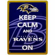 Baltimore Ravens Keep Calm Sign