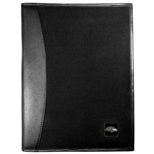 Baltimore Ravens Leather and Canvas Padfolio
