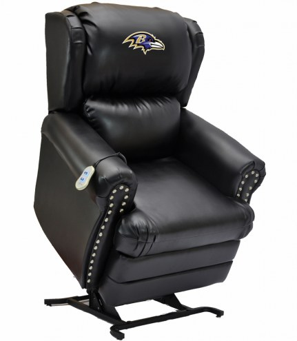Baltimore Ravens Leather Coach Lift Recliner