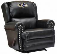 Baltimore Ravens Leather Coach Recliner