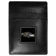 Baltimore Ravens Leather Money Clip/Cardholder in Gift Box
