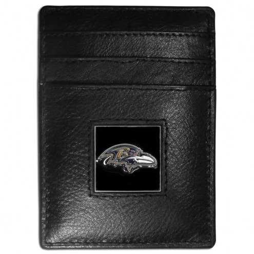 Baltimore Ravens Leather Money Clip/Cardholder