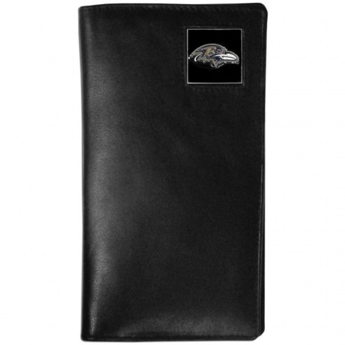 Baltimore Ravens Leather Tall Wallet