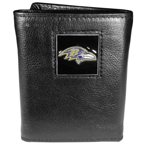 Baltimore Ravens Leather Tri-fold Wallet