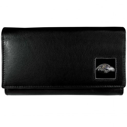 Baltimore Ravens Leather Women's Wallet
