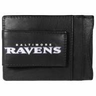 Baltimore Ravens Logo Leather Cash and Cardholder