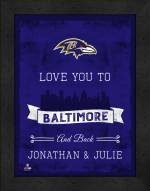 Baltimore Ravens Love You to and Back Framed Print