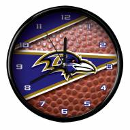 Baltimore Ravens Football Clock
