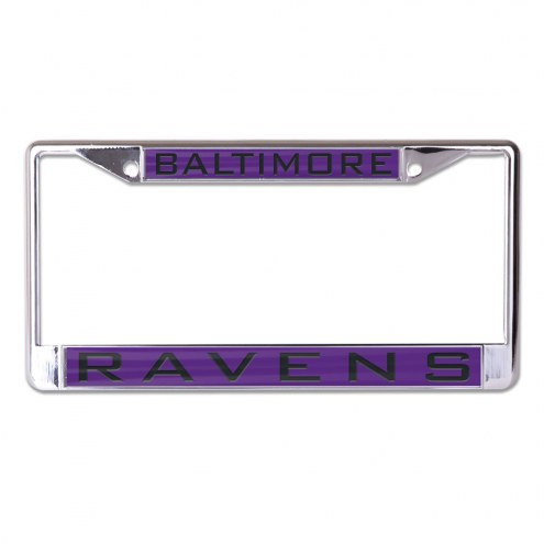 Baltimore Ravens Metal License Plate Frame
