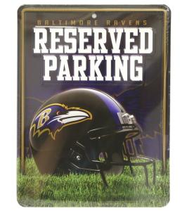 Baltimore Ravens Metal Parking Sign