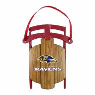 Baltimore Ravens Metal Sled Tree Ornament