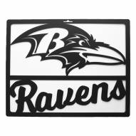 Baltimore Ravens Metal Team Sign