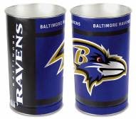 Baltimore Ravens Metal Wastebasket
