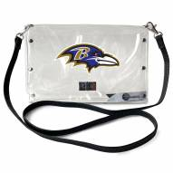 Baltimore Ravens Clear Envelope Purse
