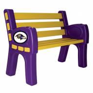 Baltimore Ravens Park Bench