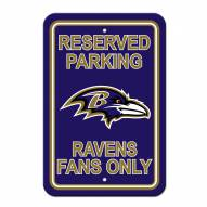 Baltimore Ravens Parking Sign
