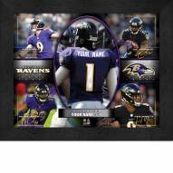 Baltimore Ravens Personalized 11 x 14 Framed Action Collage