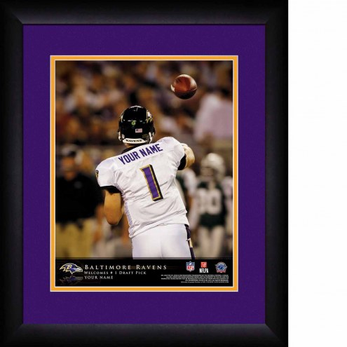Baltimore Ravens Personalized 13 x 16 NFL Action QB Framed Print